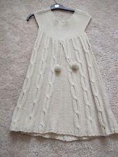 Sleeveless knitt swing jumper in beige, size small (10)