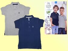 2 er Pack Kinder Poloshirts Polo T.-Shirt Polohemden 86/92 blau / grau  NEU