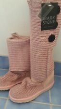 BNWT Mark Stone whistler knit GENUINE SHEEPSKIN cardy ugg boots Ladies 6-7 pink