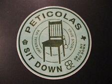 PETICOLAS BREWING Texas Dallas Sit Down IPA STICKER decal craft beer brewery