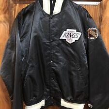 Vintage Los Angeles Kings Satin Starter Jacket XL NHL Gretzky 80's
