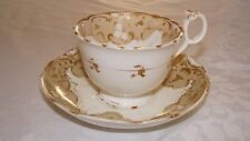 ANTIQUE VICTORIAN DECORATIVE CUP AND SAUCER - RIDGWAY PROBABLY