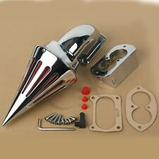 Chrome Spike Air Cleaner Filter For KAWASAKI Vulcan 1500 1600 Mean Streak 02-09