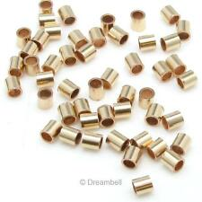 100x 14k Gold Filled Crimp Beads 1.1x1mm Tube 1mm spb682gf