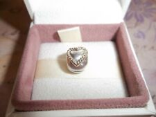 Genuine Authentic Pandora Silver & 14ct Gold Heart Clip Charm 790599 - RRP £120