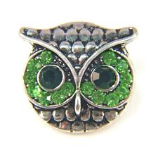Noosa Style Chunks Snap Button Charms Ginger Snaps Charm Green Owl 20mm