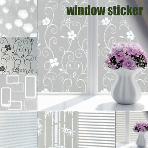 Privacy Static Cling Window Film Glass Sticker Decorative indoor Environmental