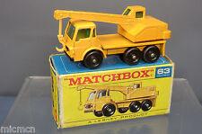MATCHBOX  LESNEY MODEL NO.63c DODGE CRANE TRUCK   VN  MIB