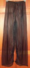 "SHEER BLACK PAJAMA BOTTOMS Men / Women 30"" Inseam XL 30"" - 50"" Waistband Stretch"