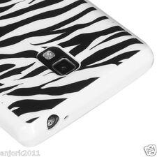 LG Optimus L9 P769 T-Mobile Soft Case Candy Skin Cover Black White Zebra