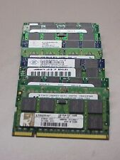 Lot of (10) Mixed  Brand 1GB DDR-2 SODIMM PC4200-PC6400 Non-ECC