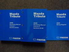 2009 mazda tribute service repair shop manual set w wiring diagram ewd oem
