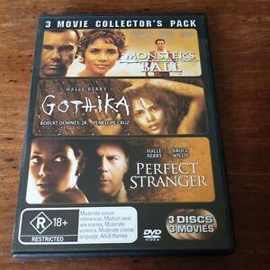 Monster's Ball Gothika Perfect Stranger 3 DVD Collectors Pack R4 Like New!