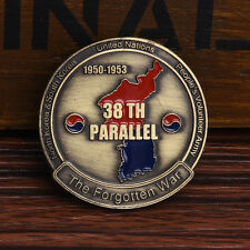 Bronze Koreanischer Krieg 38. Herausforderung Gedenkmünze Münzen Werkzeug F H0I6