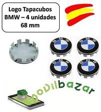 BMW LOGO TAPAS LLANTAS 4 UNIDADES 68MM EMBLEMAS. DESDE ESPAÑA ENVÍO 24 HORAS