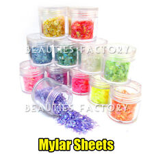 12X NAIL ART GLITTER POWDER ICED MYLAR SHEET DECORATION 10g Jar #418
