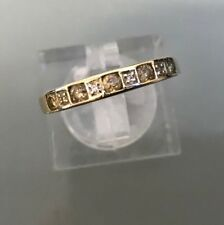 Women's 9ct Gold Diamond Ring Quality Stones Ring Size O 1/2 W1.37g Stamped