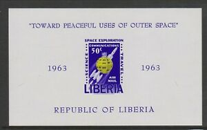 Liberia - 1963, Space Exploration sheet - Imperf - MNH - SG MS883