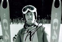 Franz KLAMMER Signed Autograph Photo 2 AFTAL COA  Downhill Skier Olympics