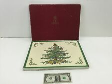 Spode Stoke Christmas Tree Placemat by Appointment Queen Elizabeth II - Set of 4