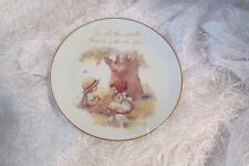 "decorative 6.25"" plate ""In all the world there's just one you"" white/beige  /a"