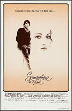 "Poster Somewhere in Time 1980 27""x41"" VF+ 8.5 Christopher Reeve Jane Seymour"