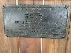 Locomotive plate, antiques or vintage