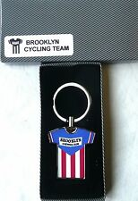 RETRO PRO BICYCLE RACING TEAM TOUR DE FRANCE KEY RING Brooklyn Bubble Gum