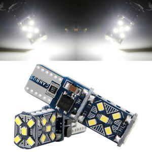 100Pcs White T10 W5W 921 194 168 15SMD Error Free LED Canbus Light Bulb 12V 24V