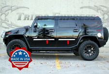 2003-2009 Hummer H2 Cladding Accent Body Side Molding Trim Insert Chrome 4Pc