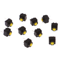 10pcs Mute Button 6*6*7.3mm Silent Switch Micro Mouse Button SwittbT ci