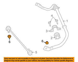 VW VOLKSWAGEN OEM Routan Stabilizer Bar-Front-Stabilizer Link Nut WHT004496