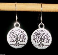 """Earrings, Tree of Life, 925-Sterling-Silver New NWT, 1-3/8"""""""