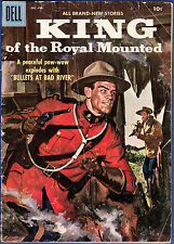 King of the Royal Mounted, No. 23, Dec-Feb 1957 Dell Silver Age Comic, See Scans