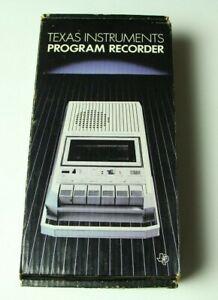 Texas Instruments Program Recorder Cassette Tape Vintage Computer