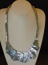Gorgeous Vintage Iridescent Mother of Pearl Necklace, 1980s