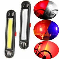 USB Rechargeable COB LED Bike Bicycle Cycling MTB Rear Tail Light Lamp Taillight