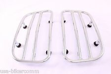 Saddlebags Lids Racks Chrome For Chief/ Chieftain Indian Motorcycle's 2014-2016
