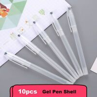 10PCs Gel Pen Shell Transparent Ballpoint Pen Cover Simple Style Pen Shell Cover