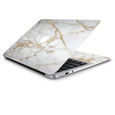 Skin Wrap for Macbook Air 11 inch  Marble White Gold Flake Granite
