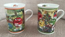 M&M's Christmas Eve / Picnic In The Park Collector Mugs Coffee Cups Danbury Mint