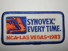 Uniform Service Hat Patch Iron Sew SYNOVEX NCA Las Vegas 1983 Vtg Bovine Cattle