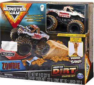 Official Licenced Zombie Monster Jam 1:64 Spin Master Monster Dirt Kinetic Sand