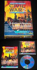 GRANT LEE SHERMAN CIVIL WAR 2 GENERALS Pc Versione Italiana Big Box ••• COMPLETO