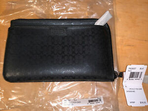 Coach F63657 Multi Functional Zippered Case Fits Cell Phones, Passports, Wallets