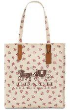 New COACH Horse & Carriage Logo Medium Tote 26972 Canvas Snap closure bag