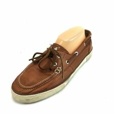Polo Mens Boat Shoes Size 9D Sander Leather Summer Shoes Brown -3077