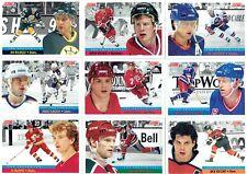 """1991-92 SCORE NHL """"THE FRANCHISE"""" 16 CARD SET"""