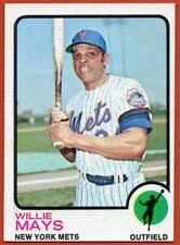 1973 Topps #305 Willie Mays Pack Fresh Blazer MINT New York Mets FREE SHIPPING