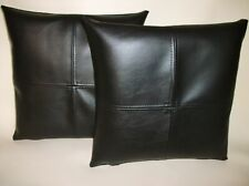 Genuine Soft Pure Lambskin Leather Pillow Covers Cushion Cover Home Decor Set